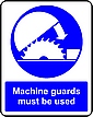 All rotary cutting and grinding machines must be properly guarded but without impeding the work. A machine guard does not mean that other cautions can be ignored.