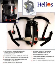Spiromatic 90 has a variety of harness and cylinder configurations; with accessories for umbilical attachment, intrinsically safe radio communications and 'Head-up' control displays. It is often best to select only the accessories that best fit your risk assessment. Don't buy add-ons that you are unlikely to use.