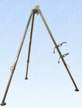 Tripod shewn with winch brackets designed for the G-Saver range